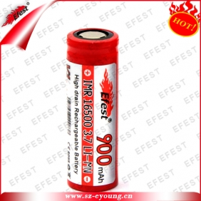 Wholesale Efest IMR 16500 900mah 3.7v li-Mn battery for e cigarette big mod