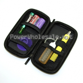 Wholesale electronic cigarette Ego Carrying zipper case Bamboo weaving Color