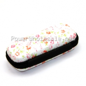 Wholesale Ego carrying black/White rose flower zipper carrying cases for best ego battery