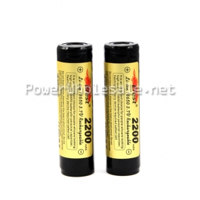 Wholesale Efest 18650 2200mah 3.7v Li-ion battery with flat top and protected