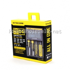 Wholesale Nitecore D4 lcd charger nitecore 4 bay charger (US/EU/UK plug)
