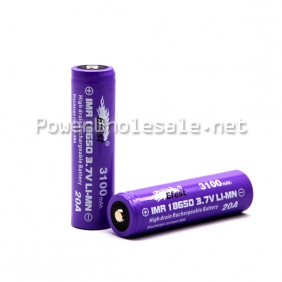 Wholesale New arrival Efest IMR 18650 20A 3100mah high discharge rate battery with button top(1pc)