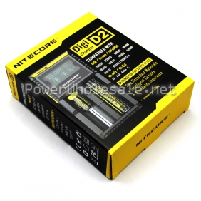 Wholesale Nitecore D2 charger LCD screen Sysmax D2 Intellicharge 18650 Battery Charger (US/EU/UK plug)