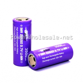 Wholesale EFest IMR 26650 3500mah 3.7v LiMn battery -Puple Flat Top