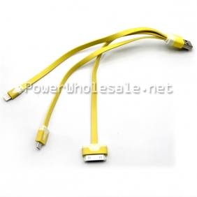 Wholesale 3 in1 USB charging USB High quality USB ling Lemon Color for your reference