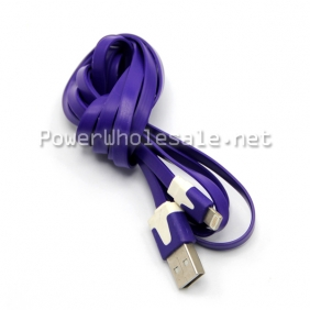 Wholesale Newest Color Purple USB Micro Charging line  Long charging line