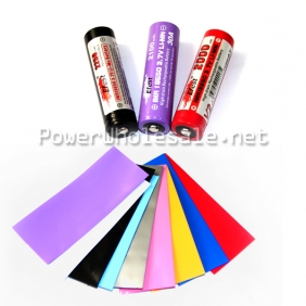 Wholesale colorful pvc sleeves 18650 Colorless PVC heat shrink sleeves(100pcs) (MOQ:500pcs of each color)