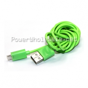 Wholesale Green and red color long USB cable