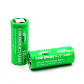Wholesale Efest green IMR 26650 4200mah 3.7v battery 50amp with flat top