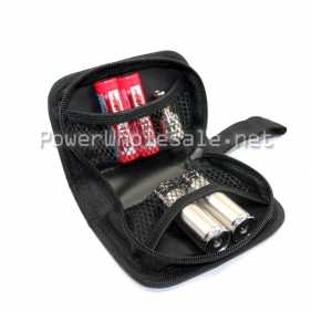 Wholesale High quality ecig carrying case black zipper carrying for ecig big ego zipper case