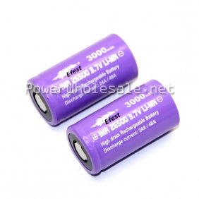 Wholesale Efest purple 26500 IMR Efest 26500 3000mAh battery with flat top