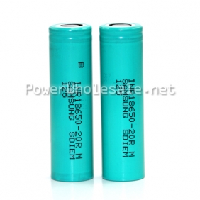 Wholesale Samsung INR18650-20R 2000mAh Li ion Recharger battery high discharge (20A discharge)