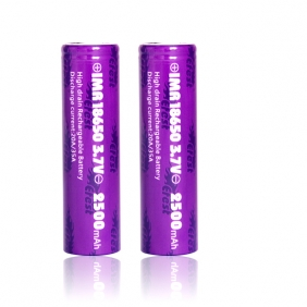 Wholesale 35A 18650 Efest purple IMR 18650 2500mah 35A battery flat top