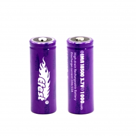 Wholesale Efest IMR 18500 1000mah 15A battery button top