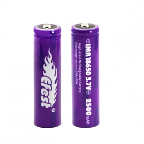 Wholesale Efest purple IMR 18650 2500mah 35A battery button top