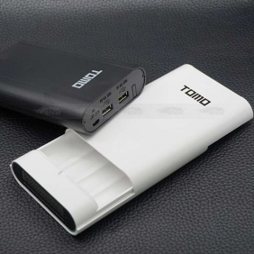 Wholesale TOMO V8-4 18650 Power Bank, Double Output and LCD display