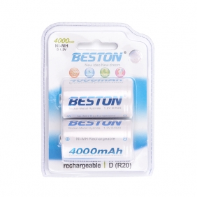 Wholesale Beston D R20  Ni-MH1.2V 4000mAh rechargeable battery