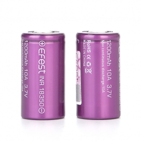 Wholesale EFEST IMR 18350 1200mAh flat top battery purple
