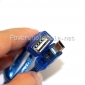 Wholesale blue color clean USB data cable for Samsung phone