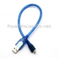 Wholesale universal USB cable blue color USB data cable
