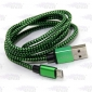 Wholesale Colorful weave USB cable, data cable for samsung phone 980mm