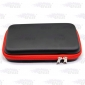 Wholesale Large size black leather zipper tool bag with red edge